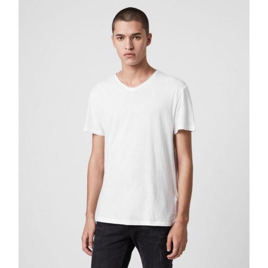 Allsaints En Solde T-Shirt Figure Col V