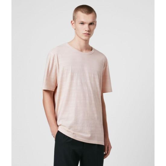 Allsaints En Solde T-Shirt en Coton Texturé Aldwin
