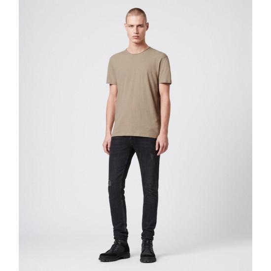Allsaints En Solde T-Shirt en Coton Pur Figure