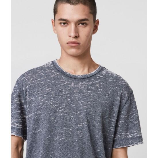 Allsaints En Solde T-Shirt Effet Dévoré Trinity