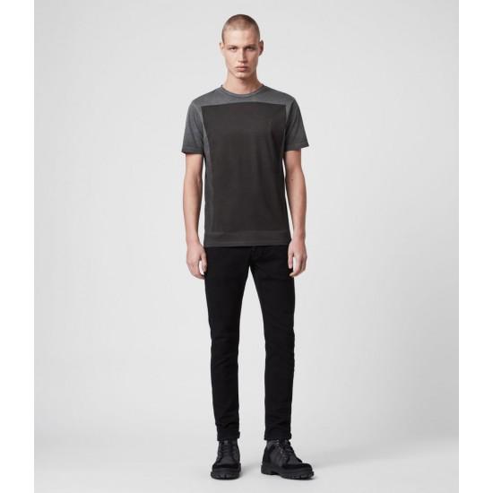 Allsaints En Solde T-Shirt en Coton Lobke Fade