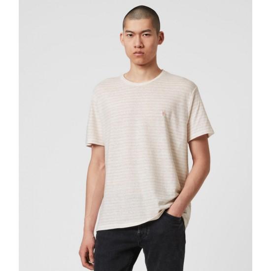 Allsaints En Solde T-Shirt Rayé Nepenthe