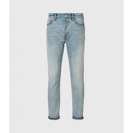 Allsaints En Solde Dean Cropped Slim Jeans, Light Indigo