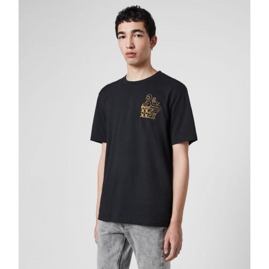 Allsaints En Solde T-Shirt en Coton Ex Mono
