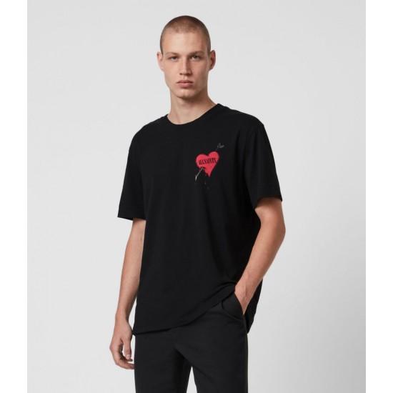 Allsaints En Solde Bleeding Heart Crew T-Shirt