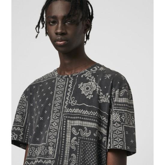 Allsaints En Solde T-Shirt à Manches Courtes Bandanax