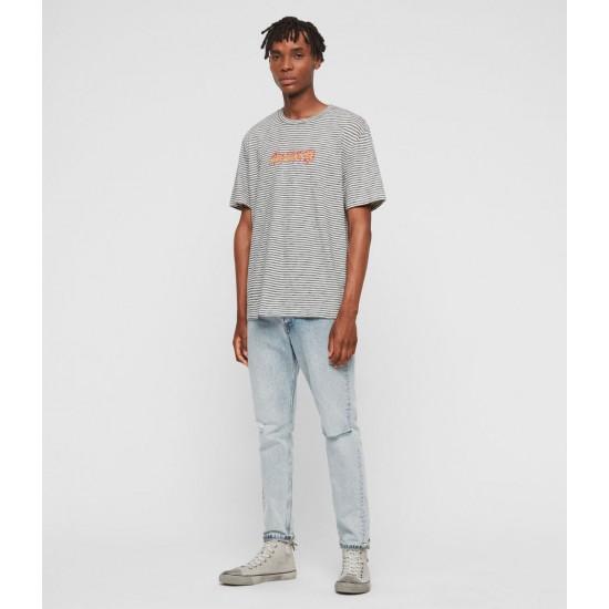 Allsaints En Solde T-Shirt Rayé Burner