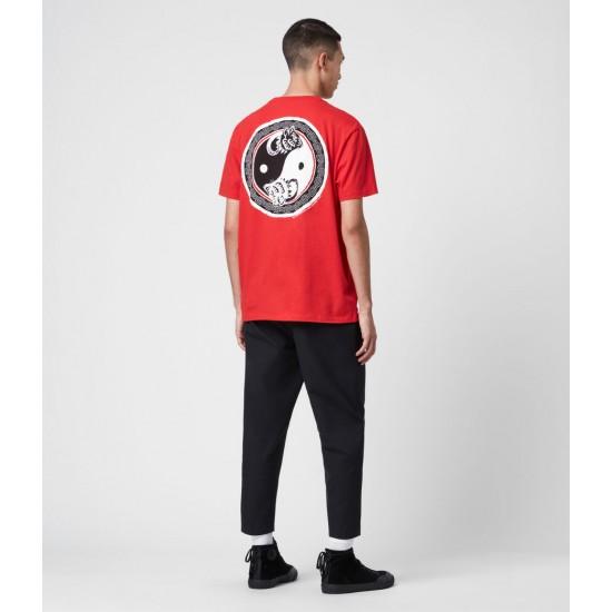 Allsaints En Solde T-Shirt en Coton Pur Lunarat