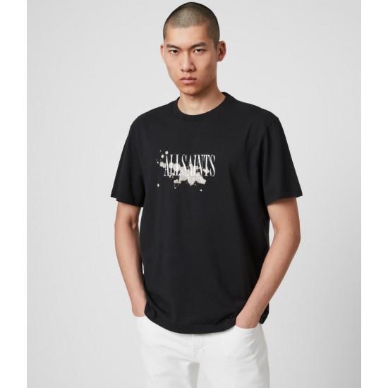 Allsaints En Solde Bleach Splash Crew T-Shirt