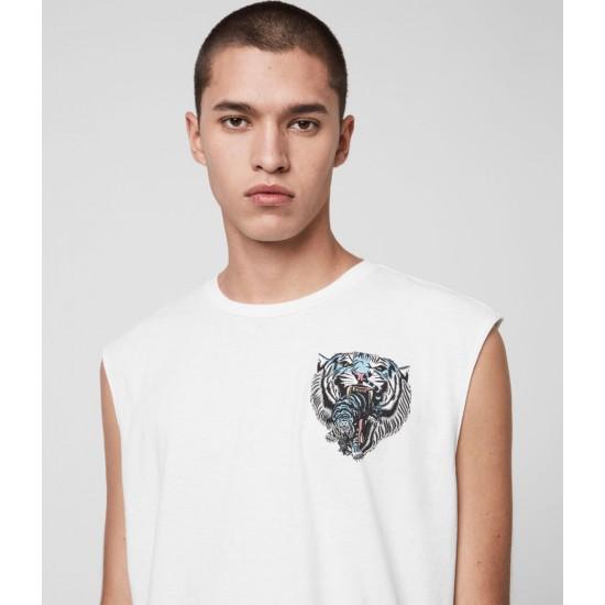 Allsaints En Solde Twin Tiger Sleeveless Crew T-Shirt