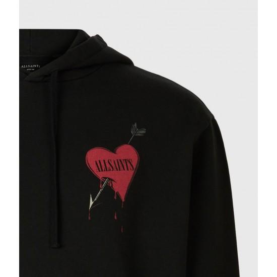 Allsaints En Solde Bleeding Heart Pullover Hoodie