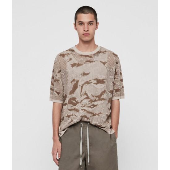 Allsaints En Solde T-Shirt en Maille Conceal