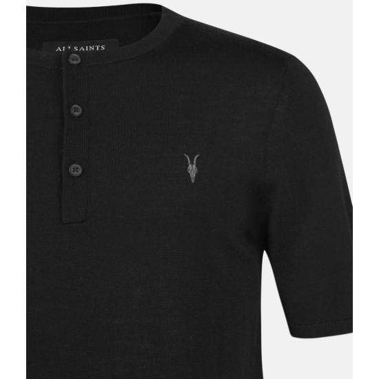 Allsaints En Solde T-Shirt Mode Merino Henley