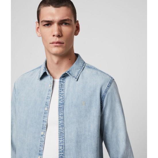 Allsaints En Solde Darton Denim Shirt