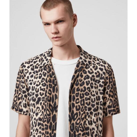 Allsaints En Solde Leppo Short Sleeve Shirt