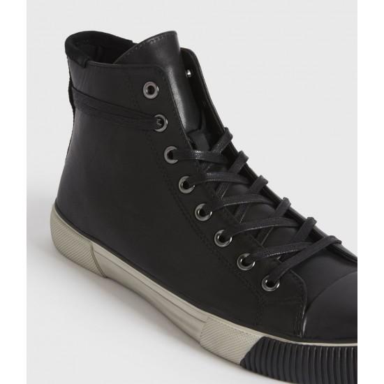 Allsaints En Solde Osun High Top Leather Trainers