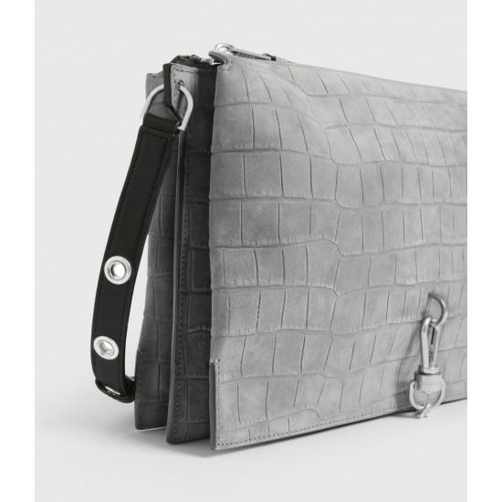 Allsaints En Solde Sheringham Suede Shoulder Bag