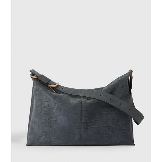 Allsaints En Solde Edbury Suede Shoulder Bag