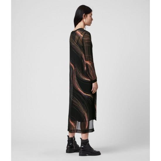 Allsaints En Solde Robe Transparente Ada Streamline