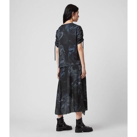 Allsaints En Solde Robe Asymétrique Rafaela Hatsukoi