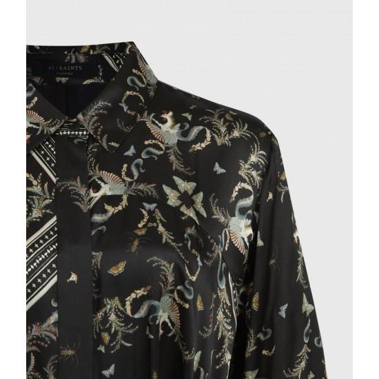 Allsaints En Solde Maia Assam Silk Blend Dress
