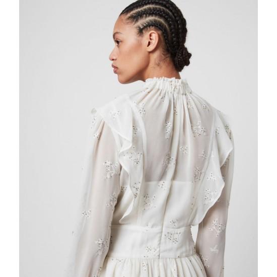 Allsaints En Solde Robe Brodée de Perles Aislyn Ditsy