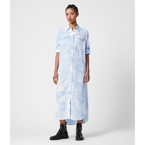 Allsaints En Solde Robe Aliza Tie & Dye