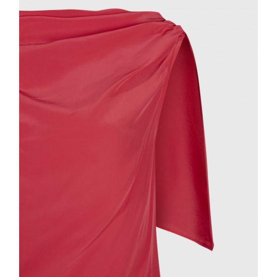 Allsaints En Solde Robe Drapée en Soie Foy