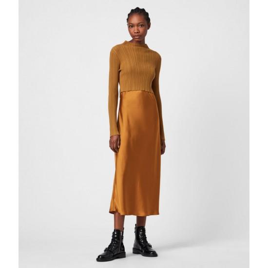 Allsaints En Solde Karla 2-In-1 Slip Dress