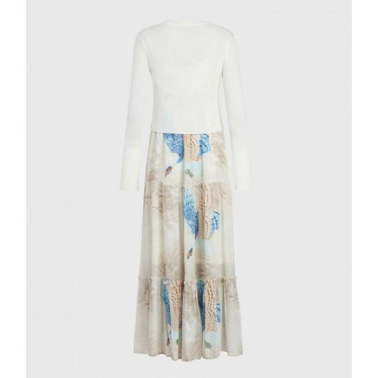 Allsaints En Solde Tilly Swoop 2-In-1 Dress