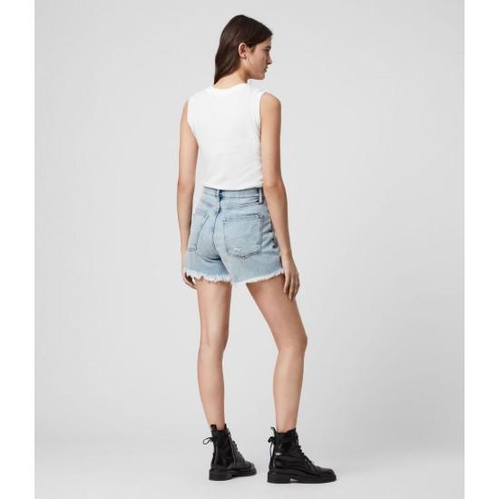 Allsaints En Solde Short Taille Haute en Jean Yanni