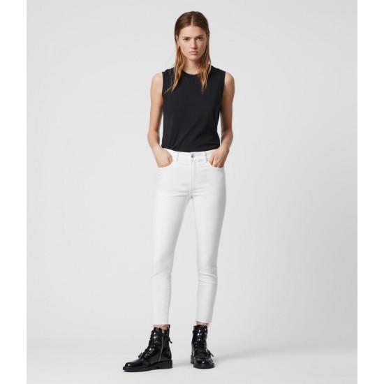 Allsaints En Solde Jean Skinny Taille Mi-Haute Miller, Blanc
