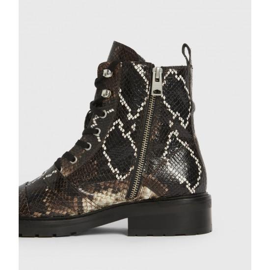 Allsaints En Solde Donita Leather Snake Boots