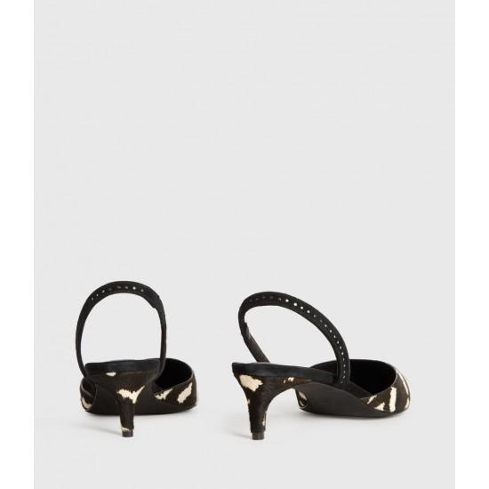 Allsaints En Solde Mia Leather Slingback Shoes
