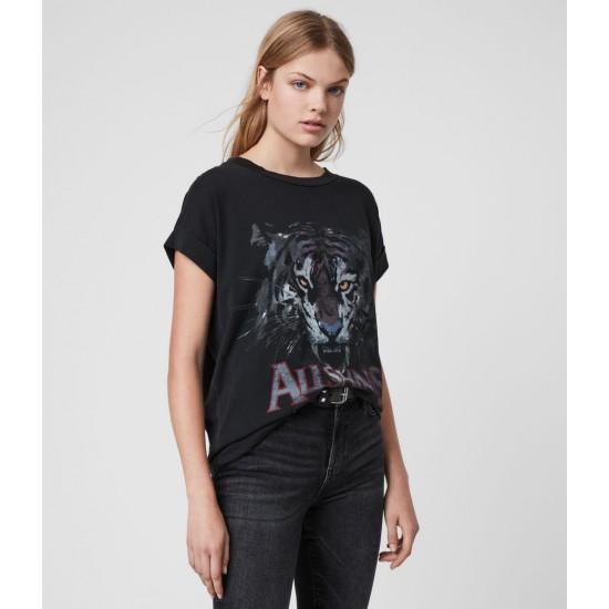 Allsaints En Solde T-Shirt Tiger Imogen Boy