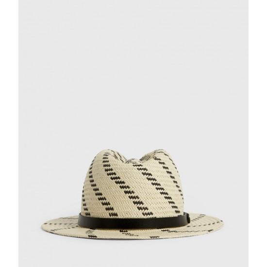 Allsaints En Solde Allie Straw Fedora Hat