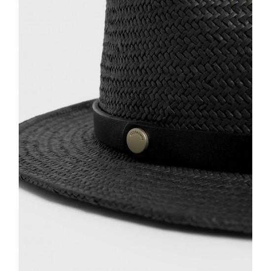 Allsaints En Solde Eliza Straw Fedora Hat