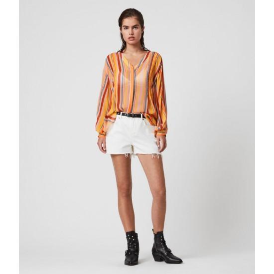 Allsaints En Solde Adra Stripe Shirt