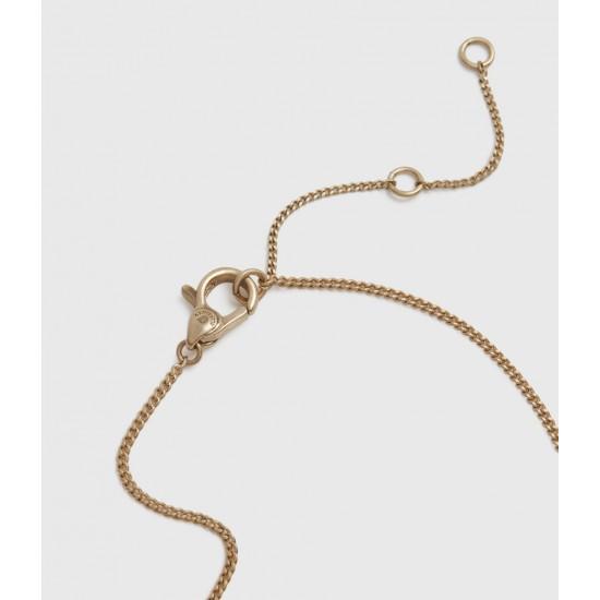 Allsaints En Solde Collier à Pendentif en Perle de Culture Pearldrop