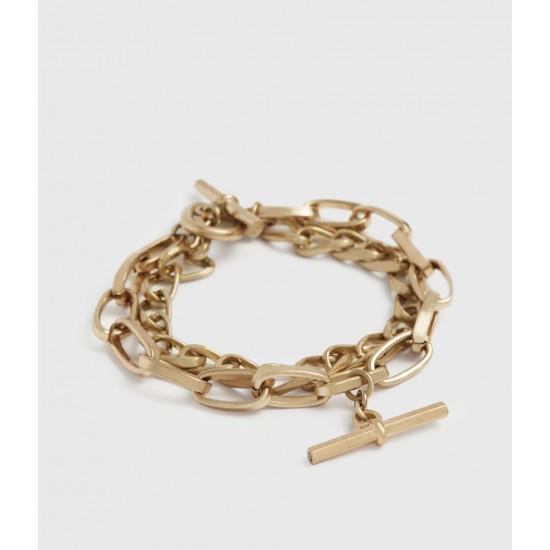 Allsaints En Solde Amur Gold-Tone Bracelet