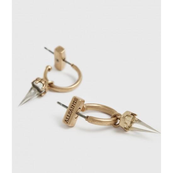 Allsaints En Solde Laio Gold-Tone Hoop Earrings