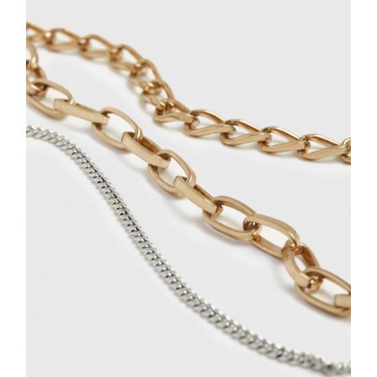 Allsaints En Solde Jailing Mixed Chain Necklace