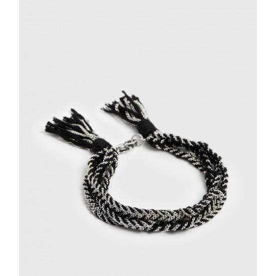 Allsaints En Solde Sankuru Braided Bracelet