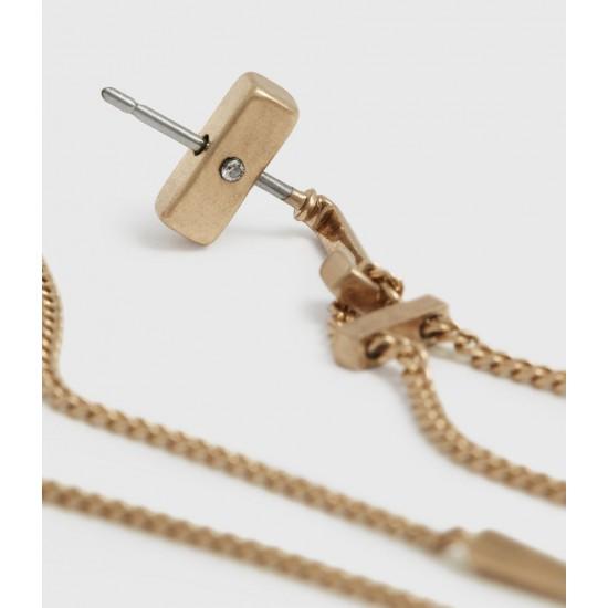 Allsaints En Solde Cayuta Gold-Tone Drop Earrings