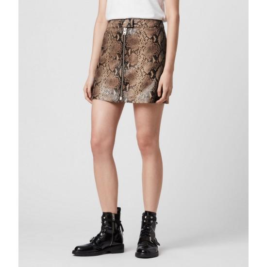 Allsaints En Solde Lena Oba Leather Skirt