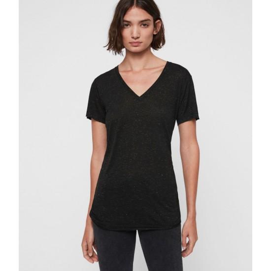 Allsaints En Solde T-Shirt Shimmer Emelyn