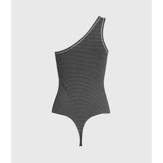 Allsaints En Solde Freyla Stripe Bodysuit