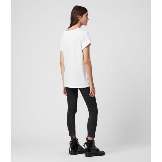 Allsaints En Solde T-Shirt en Coton Pur Imogen