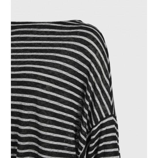 Allsaints En Solde T-Shirt Manches Longues Rayé Rita