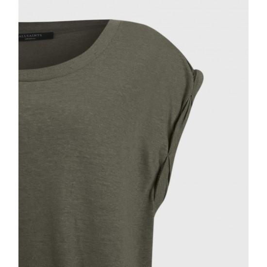 Allsaints En Solde T-Shirt Coton & Lin Sanza